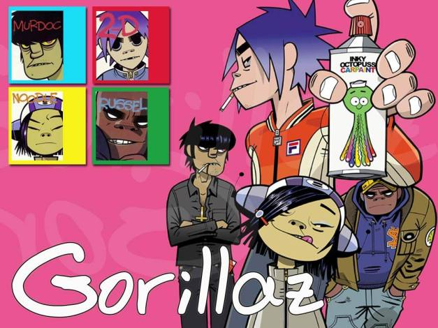 Gorillaz. Cartoons do well, and help your image shine.