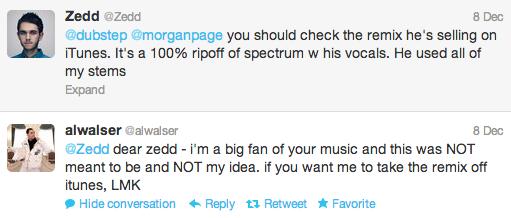 Zedd Twitter & Al Walser Tweets