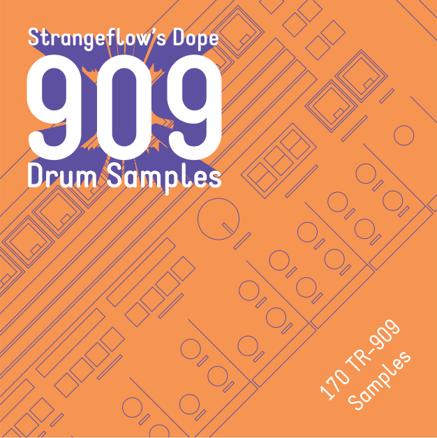New sample package : StrangeFlow's Dope 909 Drum Samples - Graphic by Ambrose Holiday