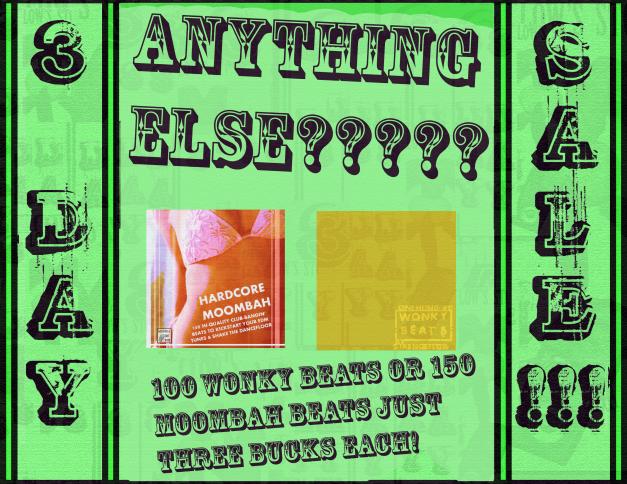 150 moombah and 100 wonky beats! three bucks, at bassadelic dot com !
