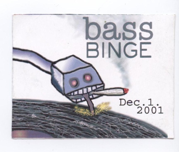 Bass Binge Rave Flyer - from Villalobosjayse's massive rave flyers archive!