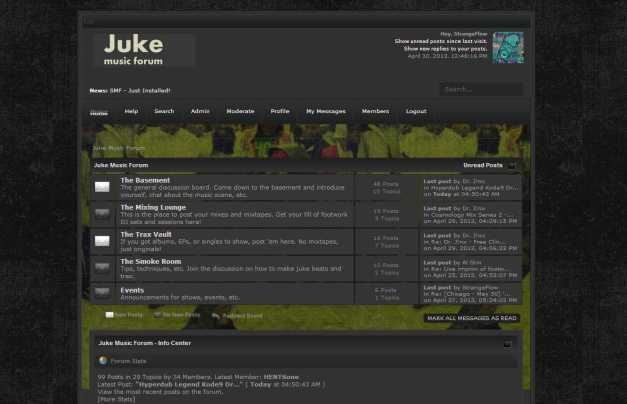 StrangeFlow just set up the 'Juke Music Forum'