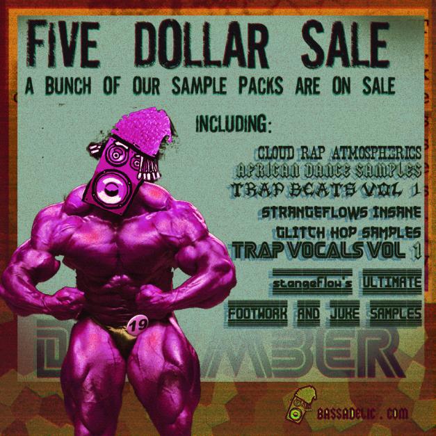 5 dollar sale @ bassadelic.com , strangeflow's sale,  xmas 2013