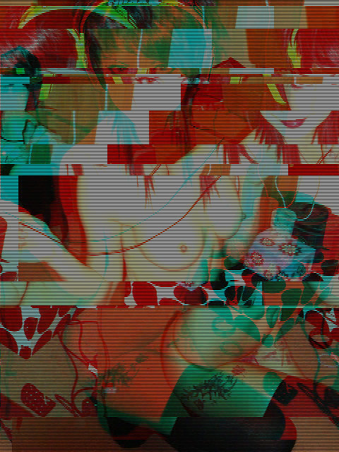 bassadelic. glitch art 2. really sexy gal wearing headphones and not wearing too many clothes
